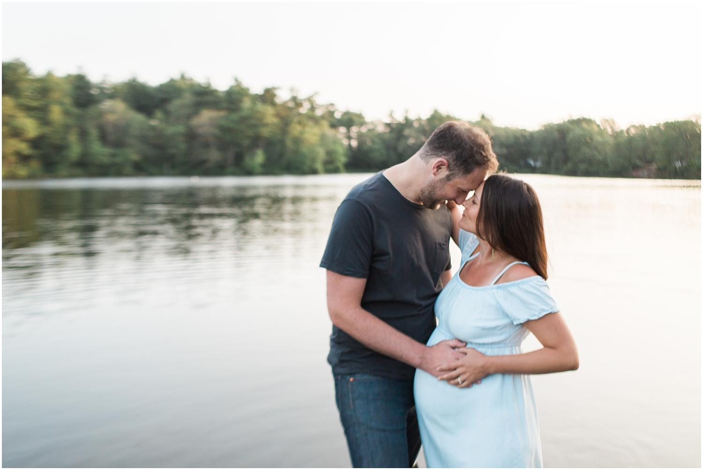 Lakeside Maternity Session + Boston Maternity Photographer