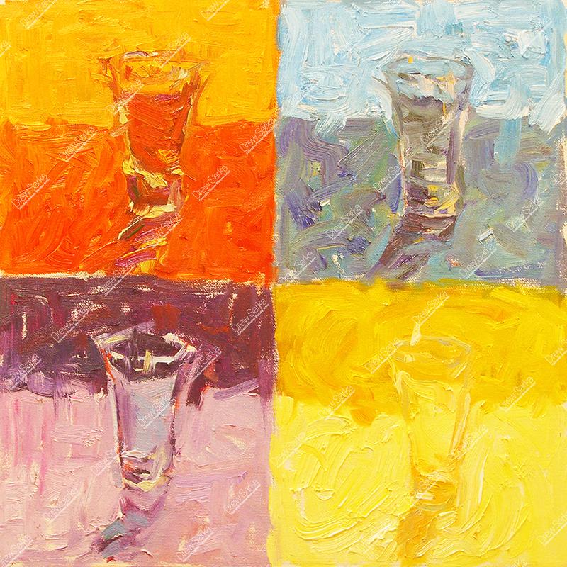 Color Study Shotglass, 12x12