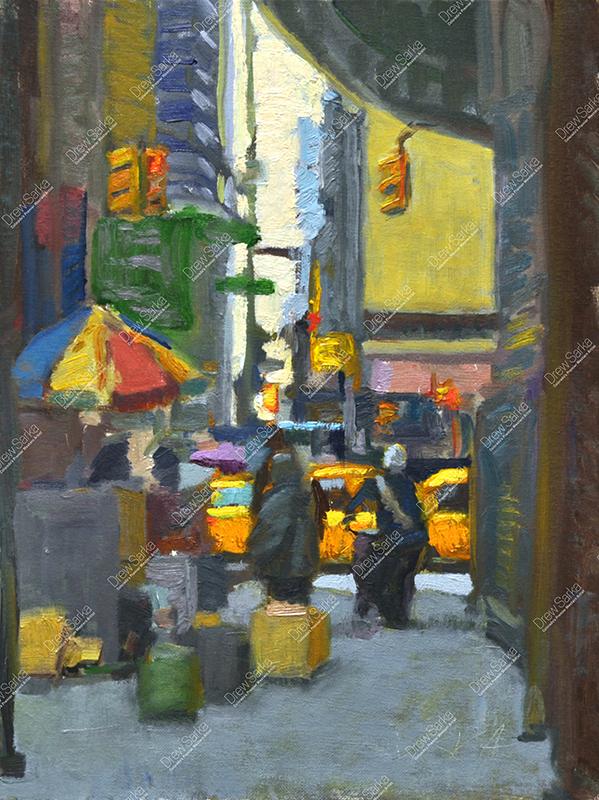 NY Street Corner, 12x16