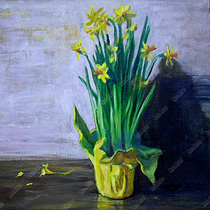 Petite Daffodils, 16x16
