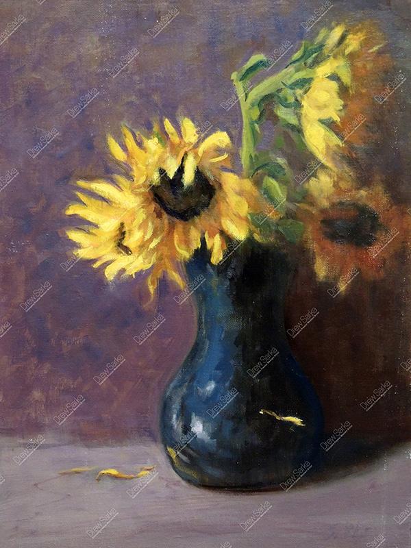 Sunflowers, 12x16