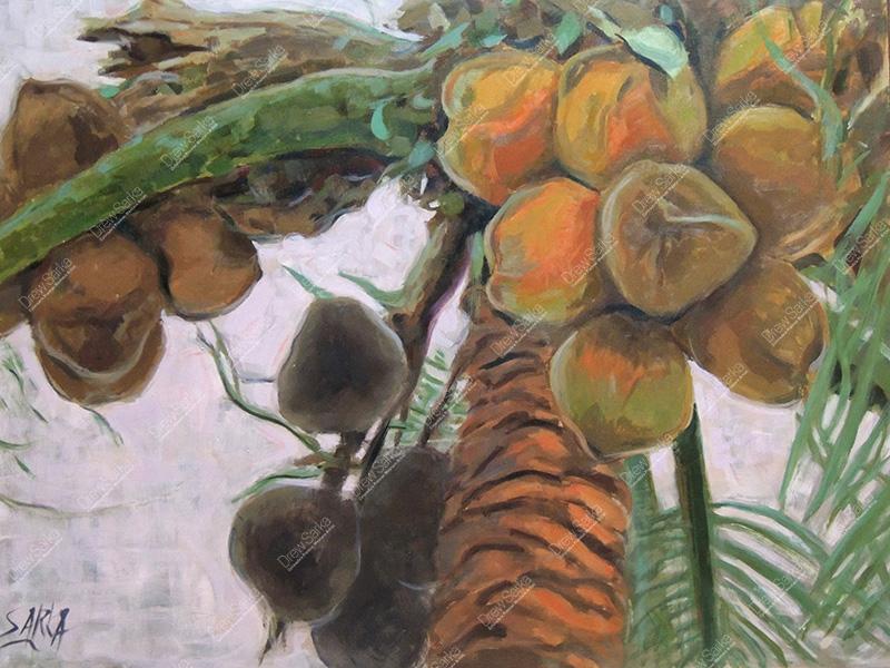 Palm Tree, 18x24