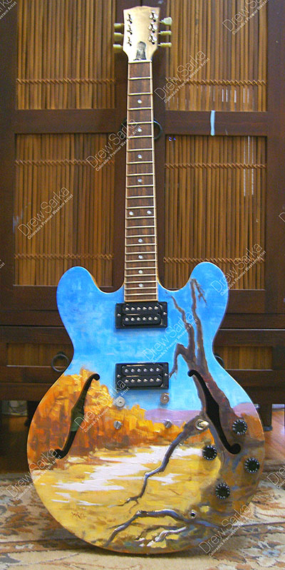 Painted Gibson Guitar