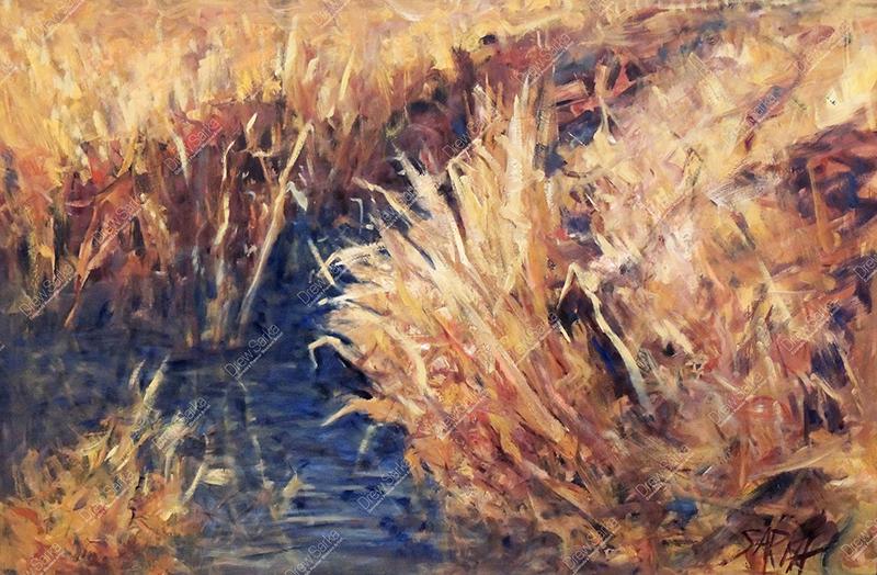 Sunlit Grasses, 24x36