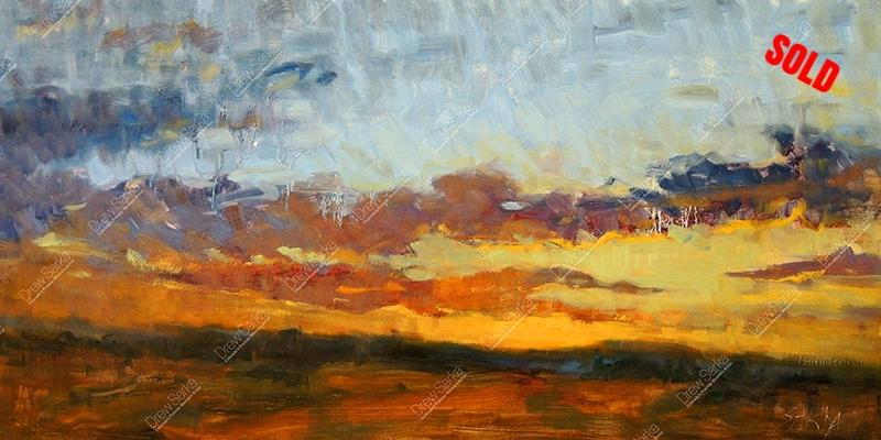 High Plains Sunset, 12x24