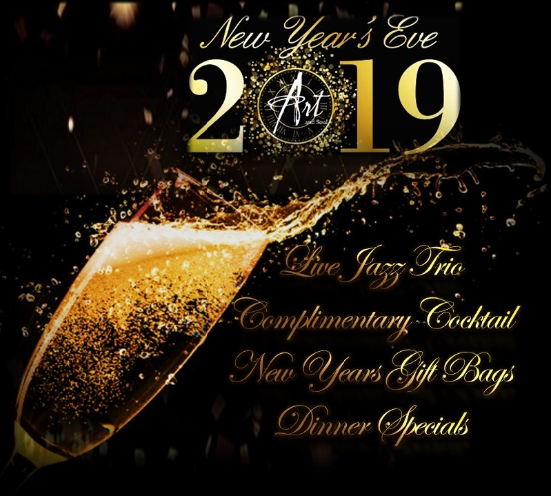 Join us for     NYE Dinner at Art and Soul. - Dinner: Booked.NYE Fun: Started!
