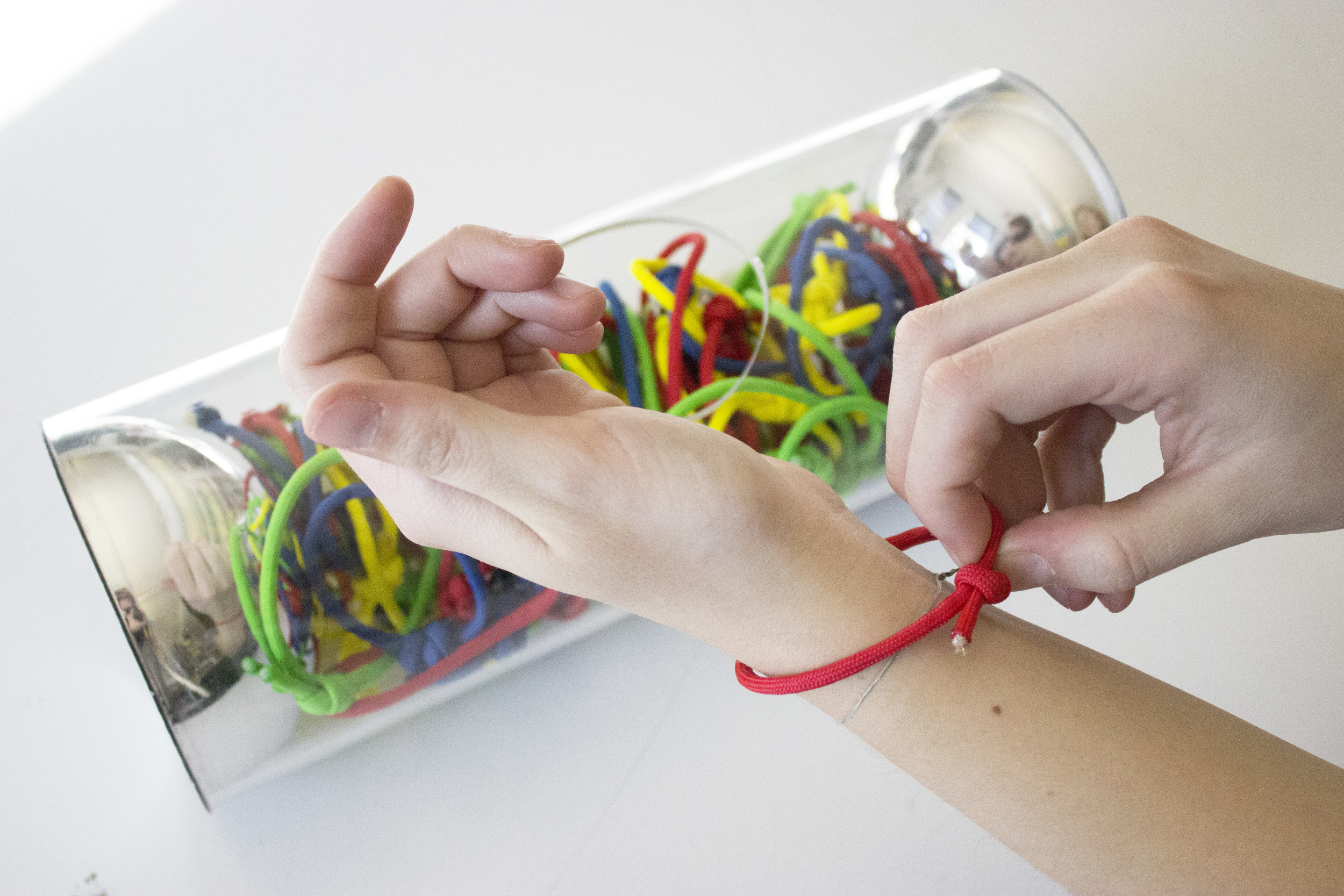 Fig.1: emotional wristbands are used by students to indicate their feelings, increasing classroom empathy