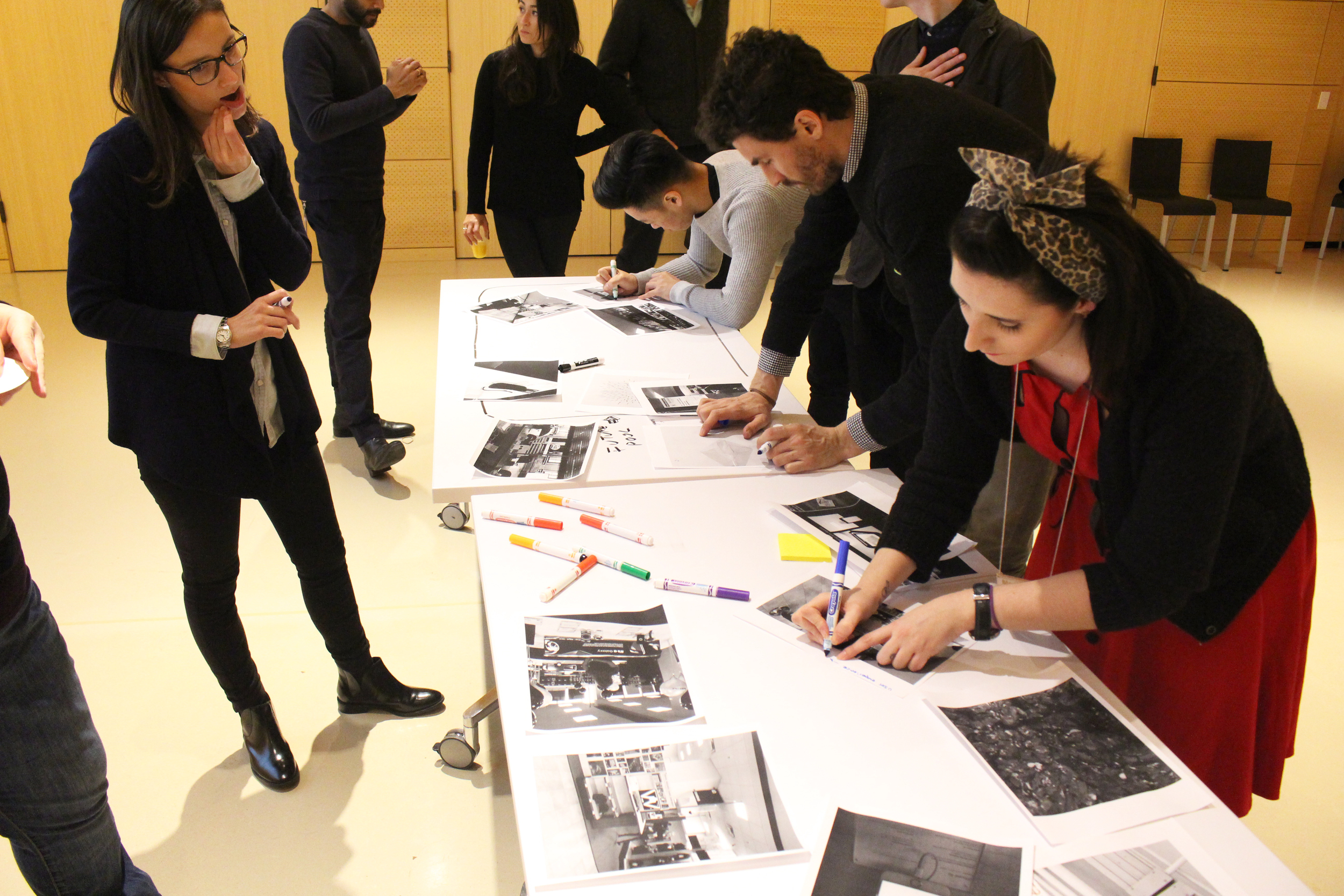 Fig.5: participants go outside the room and capture images of 'future fragments' that become prompts to initiate the process of ideation