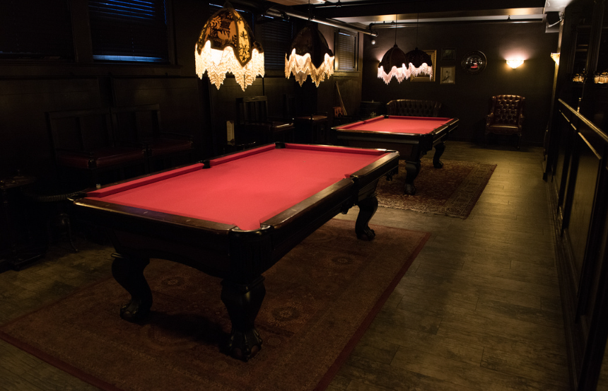 Pool Tables at Carrie Nation, Boston's Beacon Hill