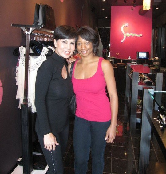 Trang Phung with Monique Coleman