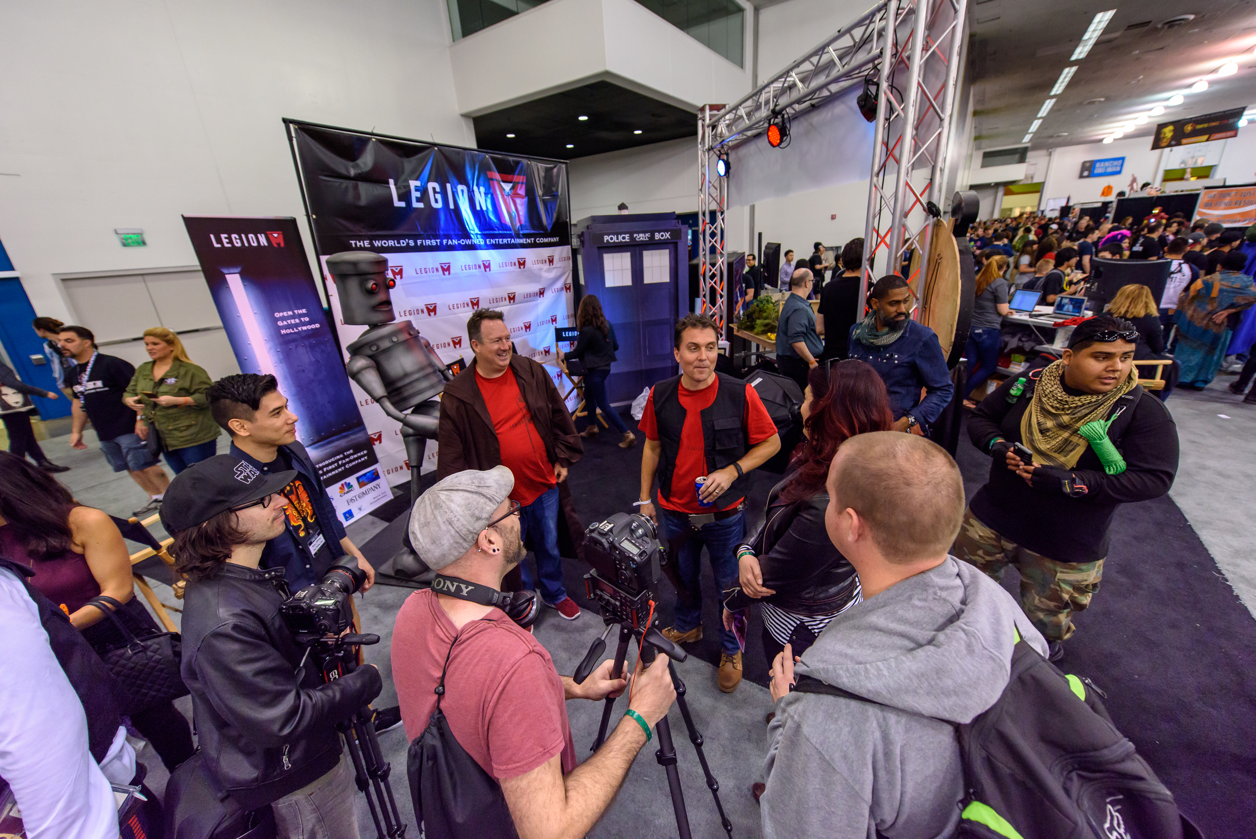 Our booth was swamped with media all weekend long.