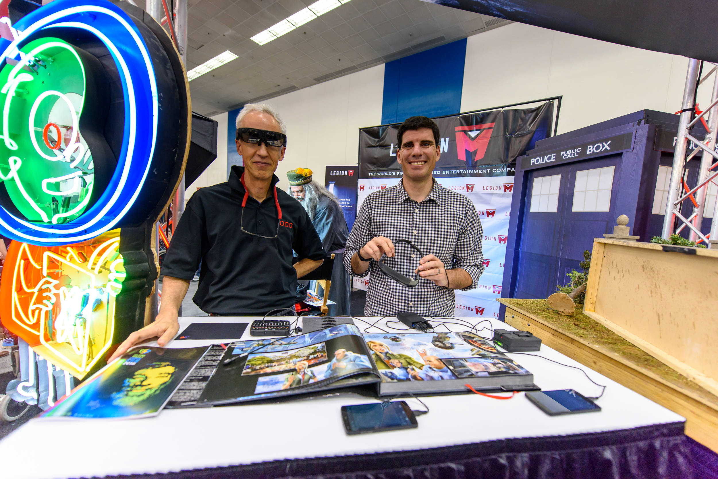 We also had special guests from Osterhaut Design Group, showing off augmented reality comic books.