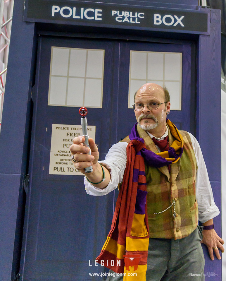 We had originally planned to use the Tardis as a changing area, but we soon learned it was also the perfect place to stow all our stuff (being as it's bigger on the inside).