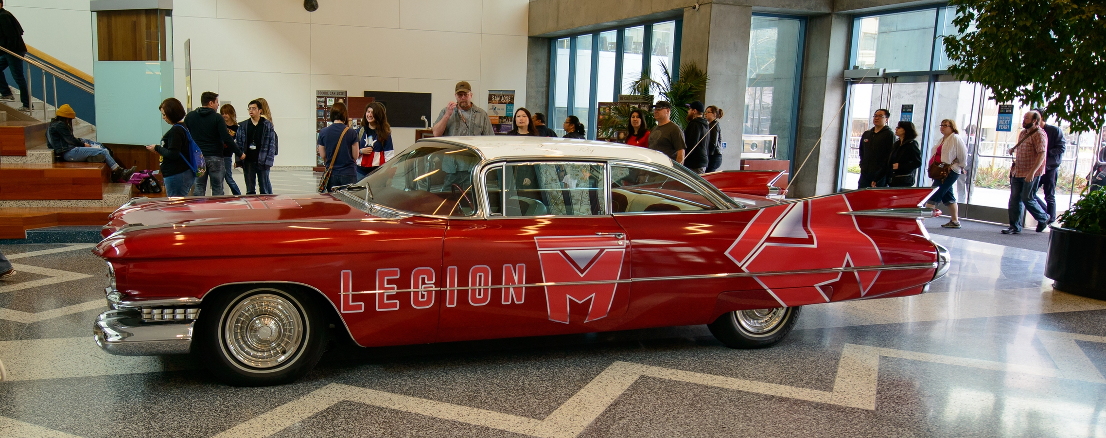 At the show, we unveiled the Legion M company car, Marilyn. She was the first thing you saw when you entered,and the last thing you saw before you left!