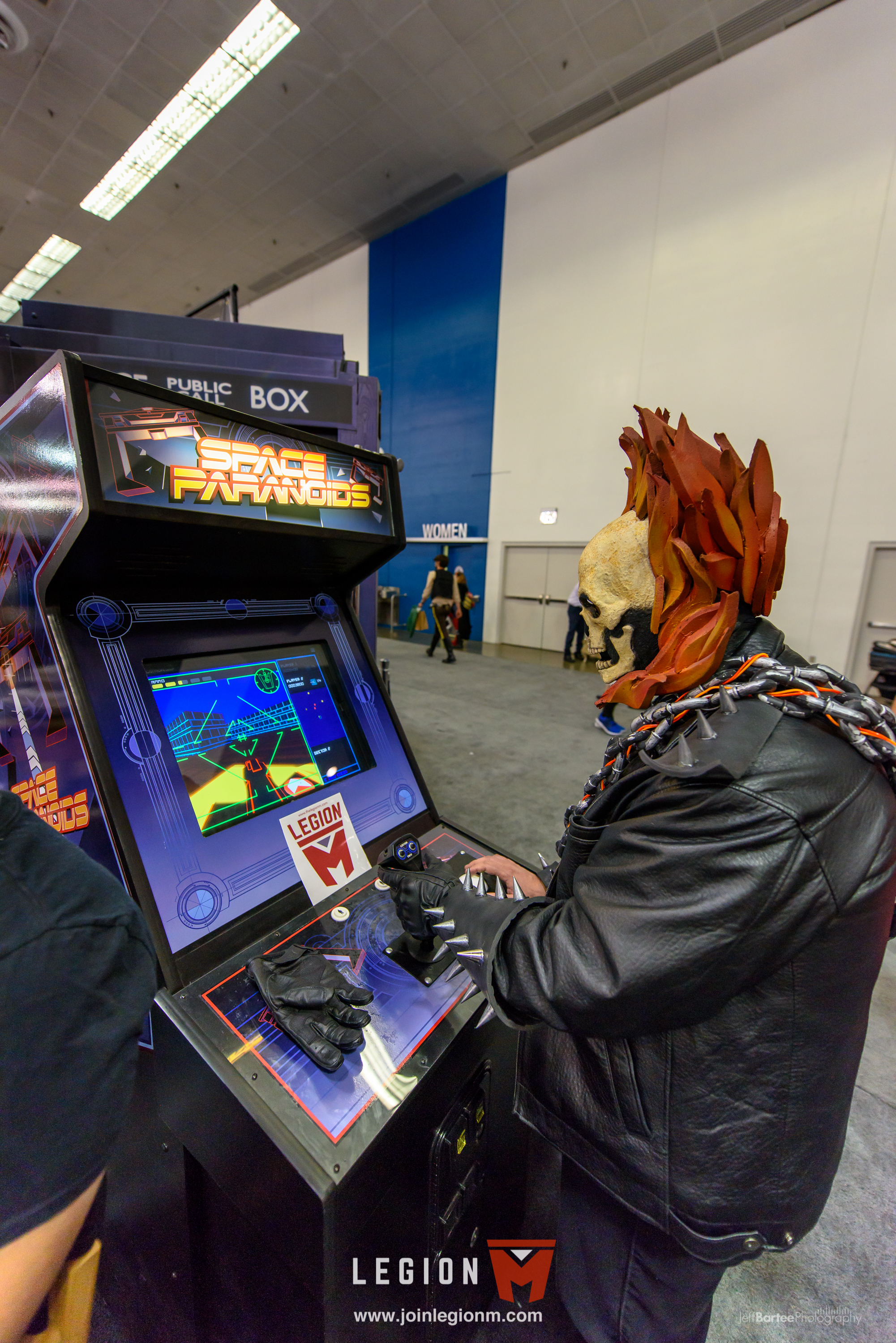 """Our friends at Animal Repair Shop/42 Entertainment loaned us one of the limited edtion, custom made """"Space Paranoids"""" arcade games from the movie """"Tron""""."""