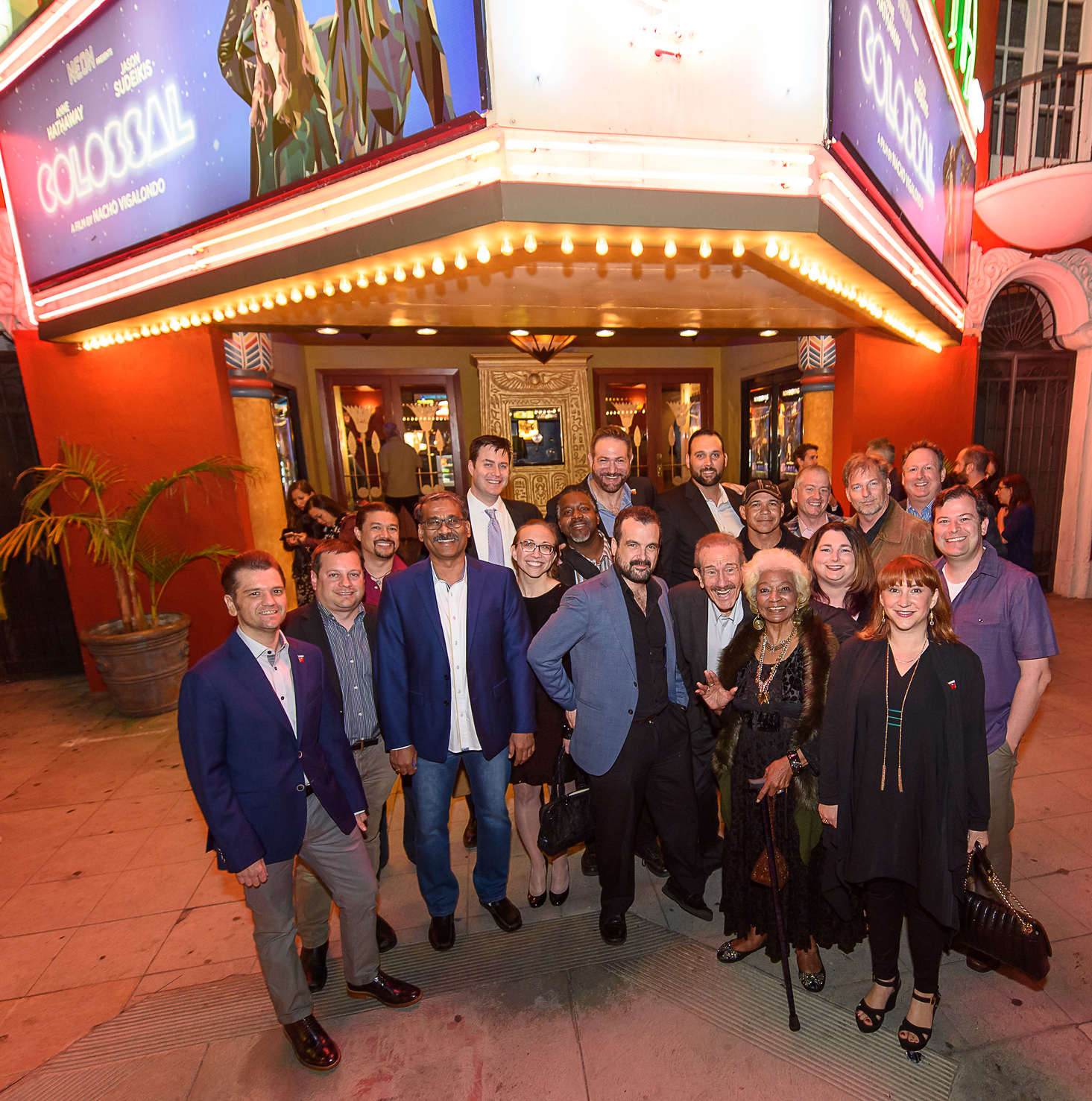 Legion M members with Nichelle Nichols and COLOSSAL Director/Writer Nacho Vigalondo