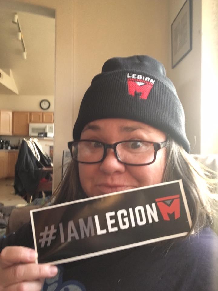 #IAMLEGIONM Bumper Sticker