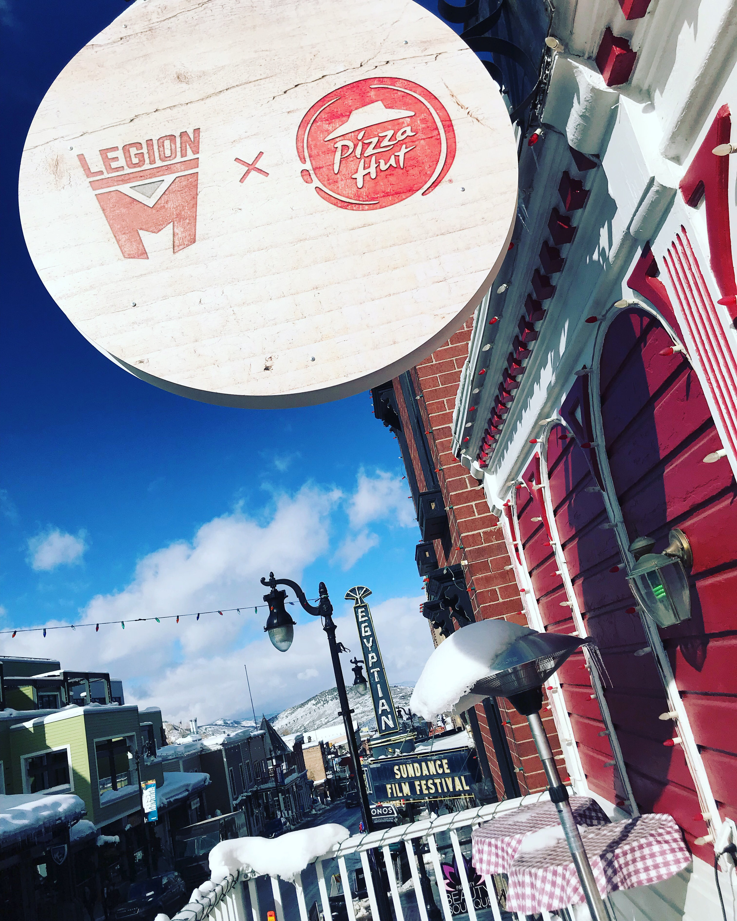 The Pizza Hut x Legion M lounge at Sundance 2019!