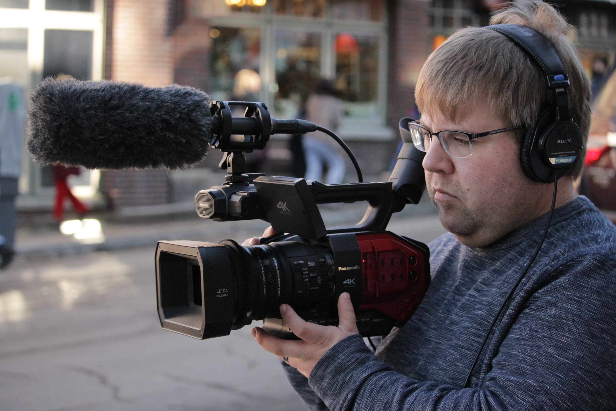 Our incredible cinematographer Brad capturing the best moments of Sundance!