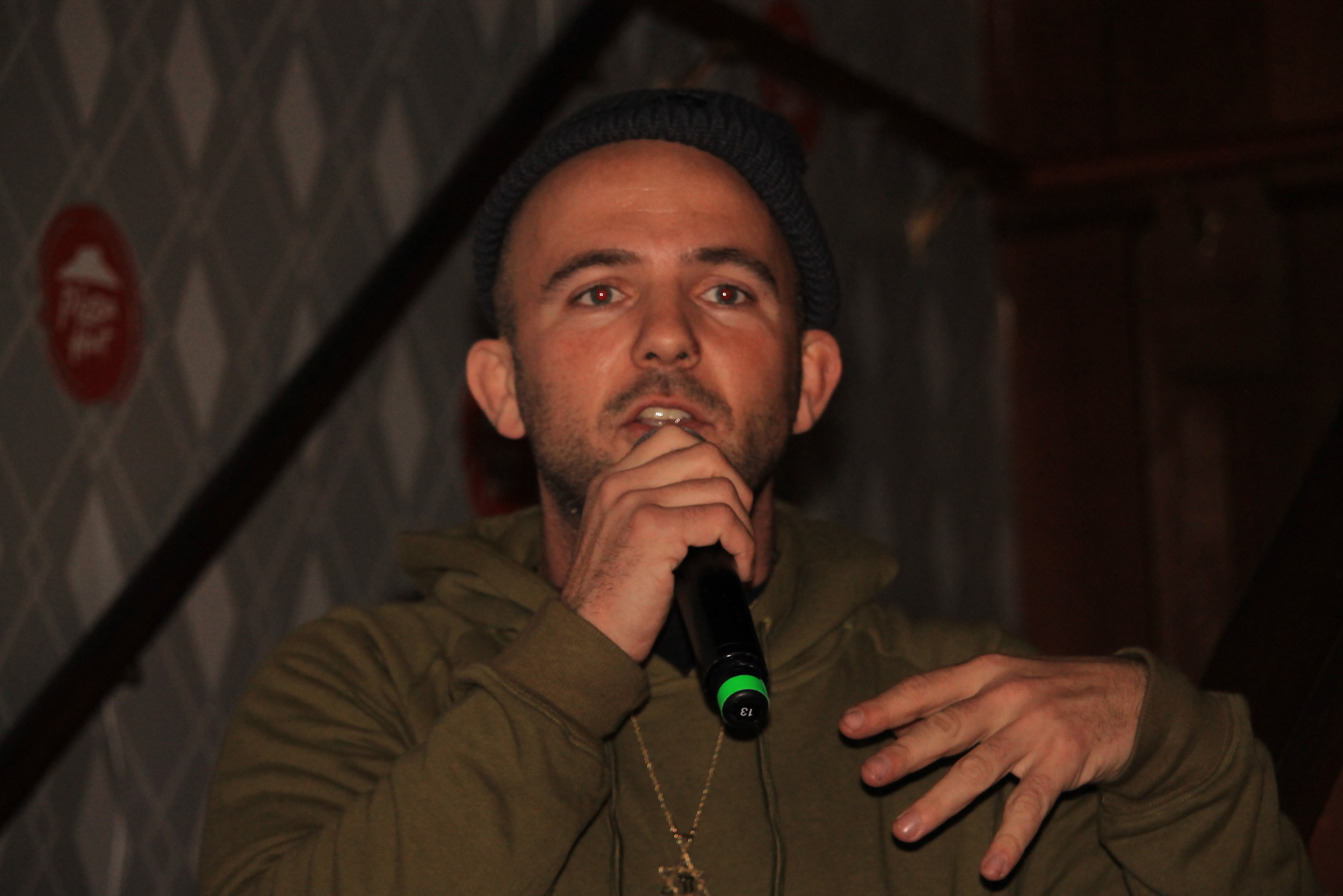 We were honored to have Jewish rapper Kosha Dillz with us for our open mic/karaoke hybrid event!