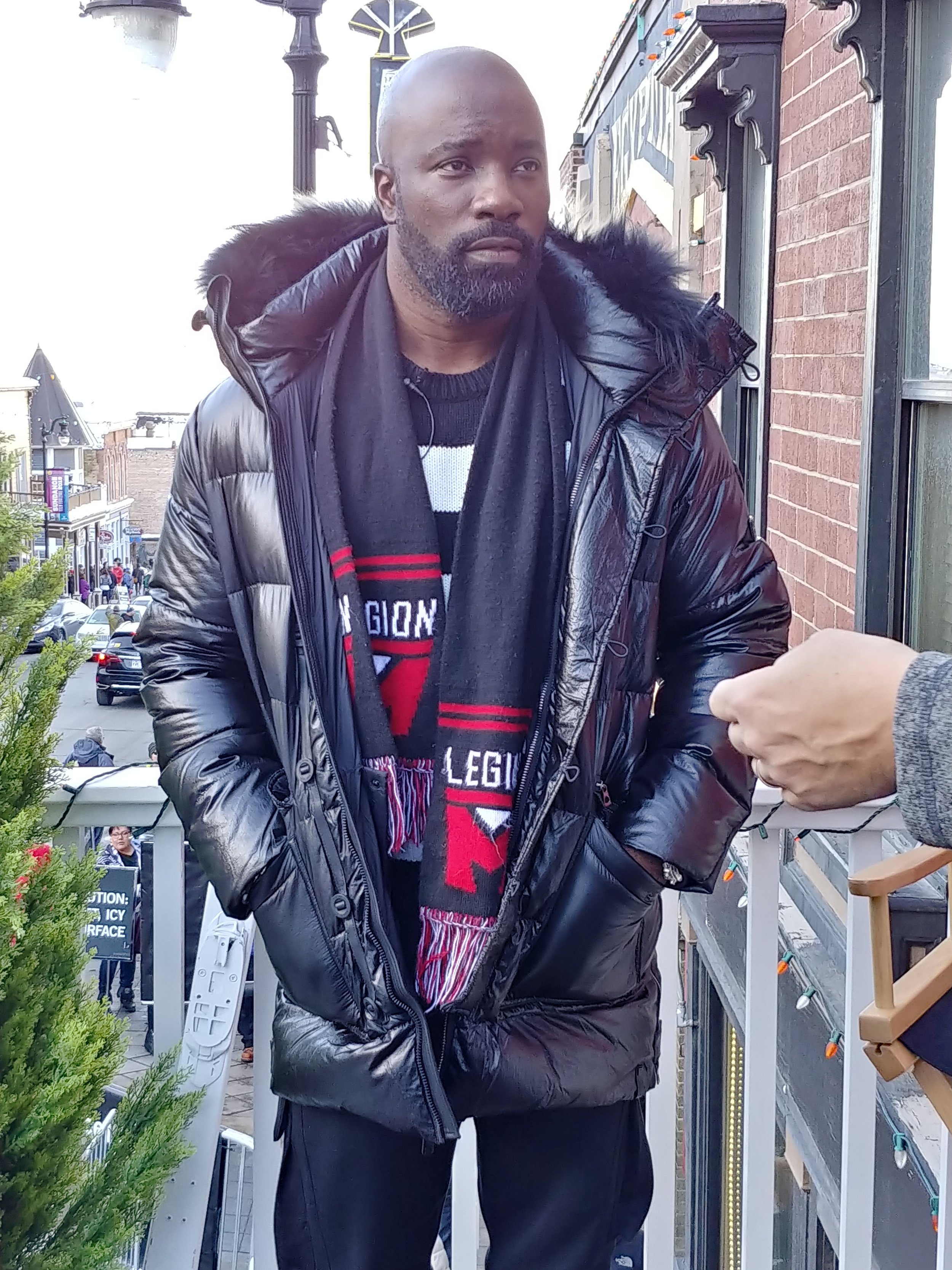 Even Luke Cage (Mike Colter) himself came by the lounge!