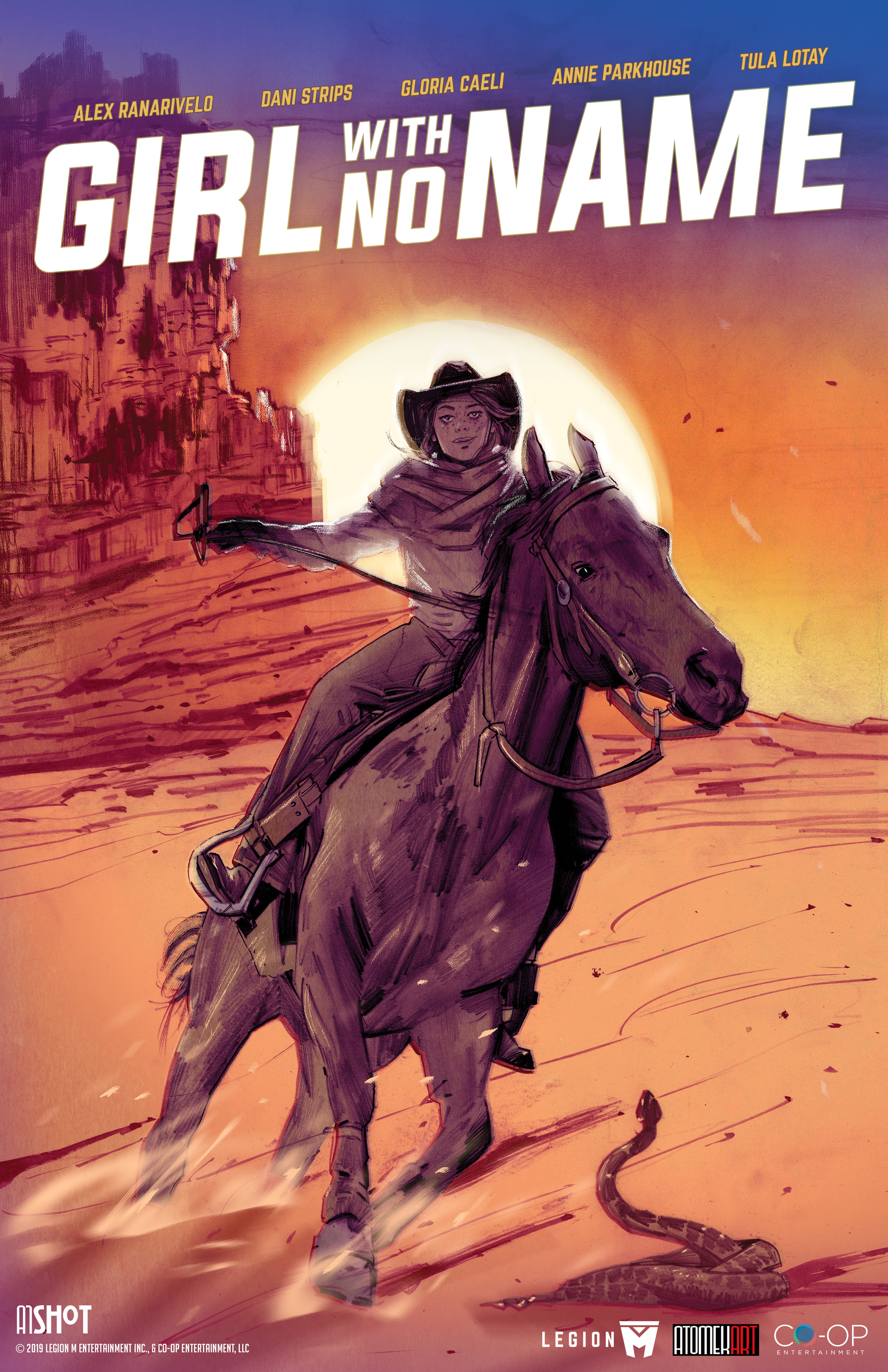 """One of the cover variants for the """"Girl With No Name"""" comic book. Art by Tula Lotay."""