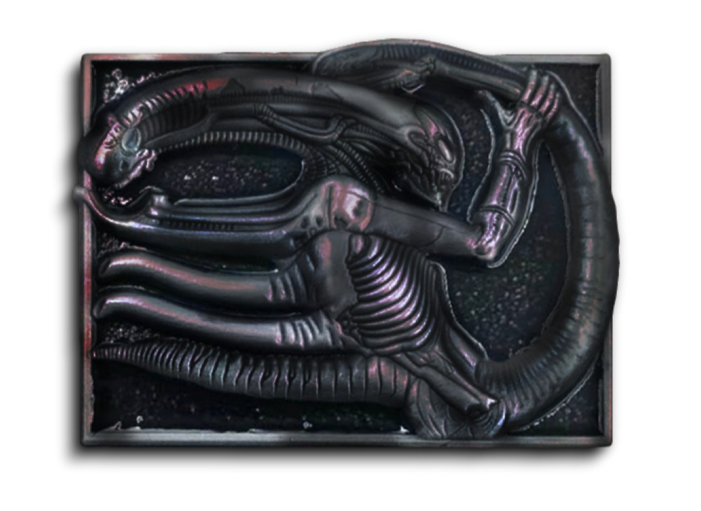DVD/BLURAY/VOD PIN - Necronomicon artwork used under license from the H.R. Giger Estate.