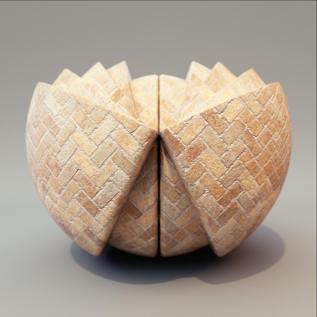 Brick - Garden Herringbone