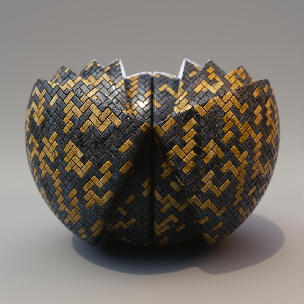 Tile - Gold Herringbone Tiles