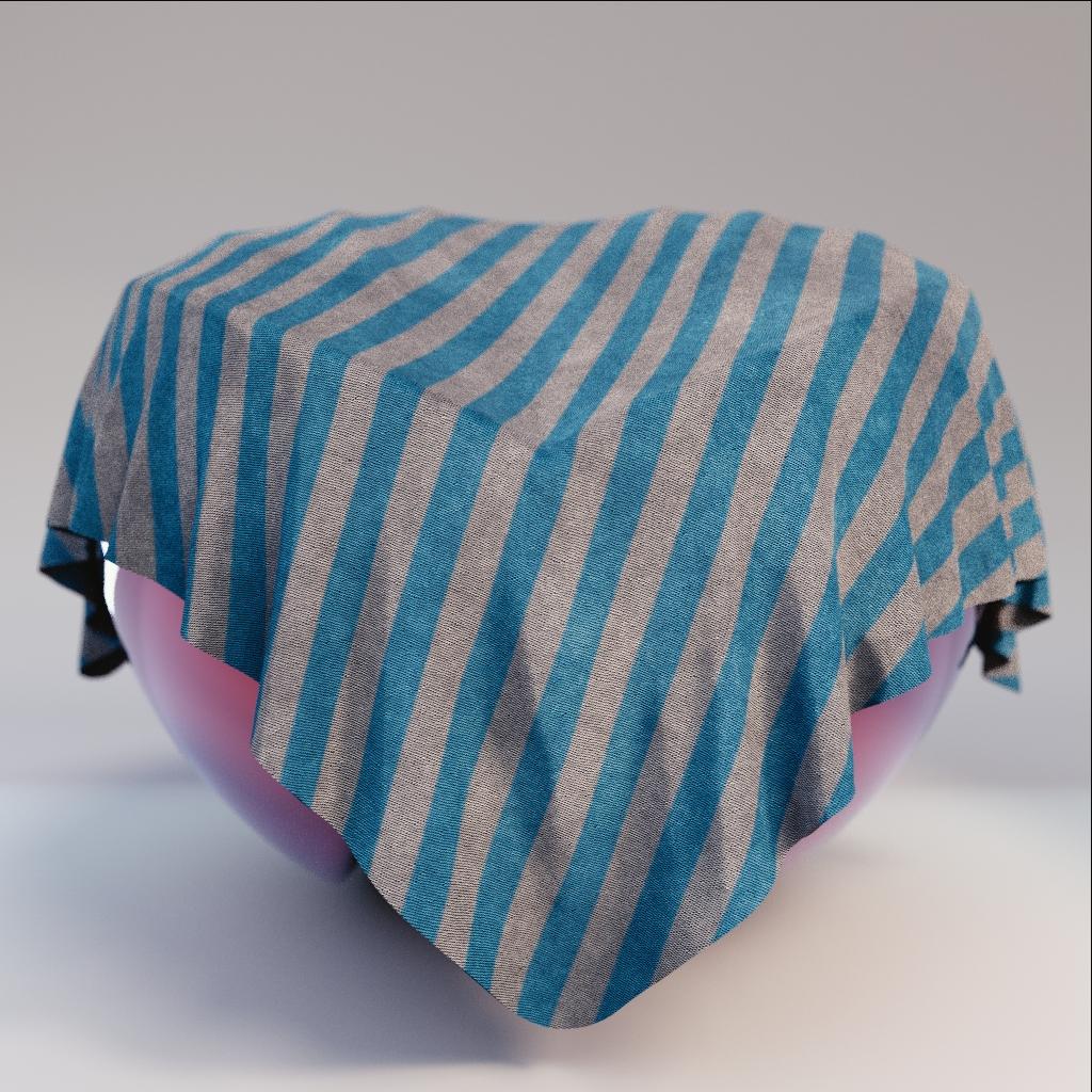 Fabric - Blue Grey Striped Fabric