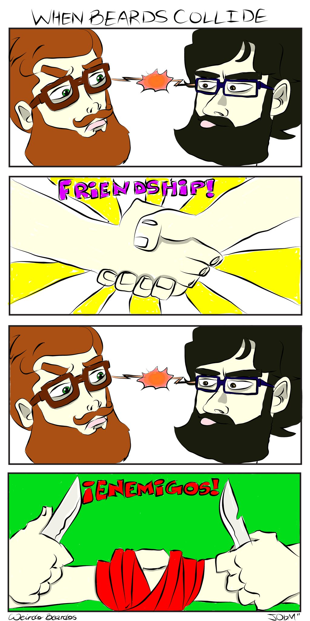 When Beards Collide