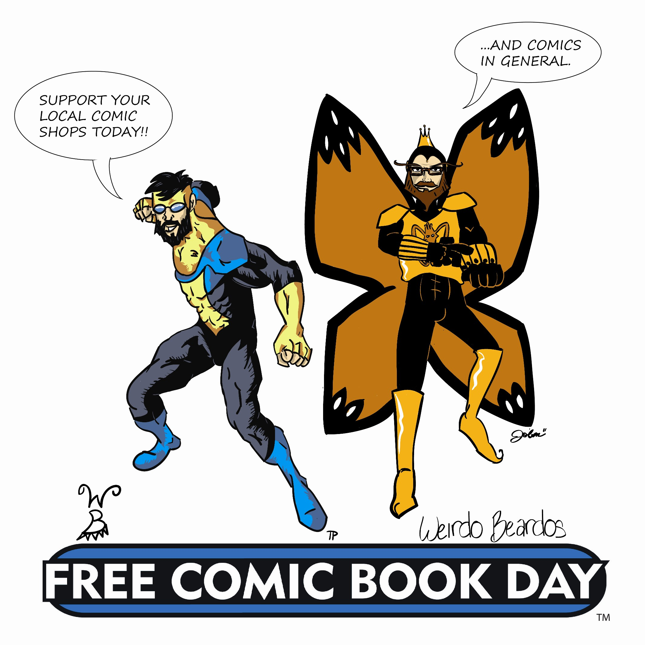 Our first Free Comic Book Day ad, despite not doing or having anything for the day.