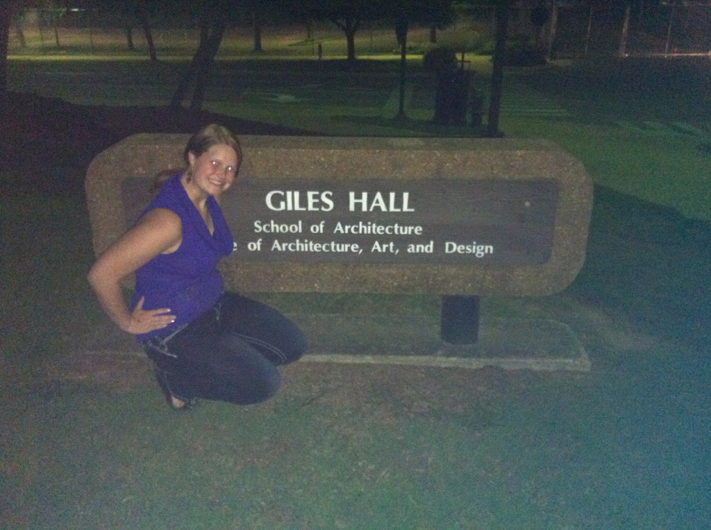 I was such an awesome student they named a hall after me. Strangely enough it was for architects but I didn't argue