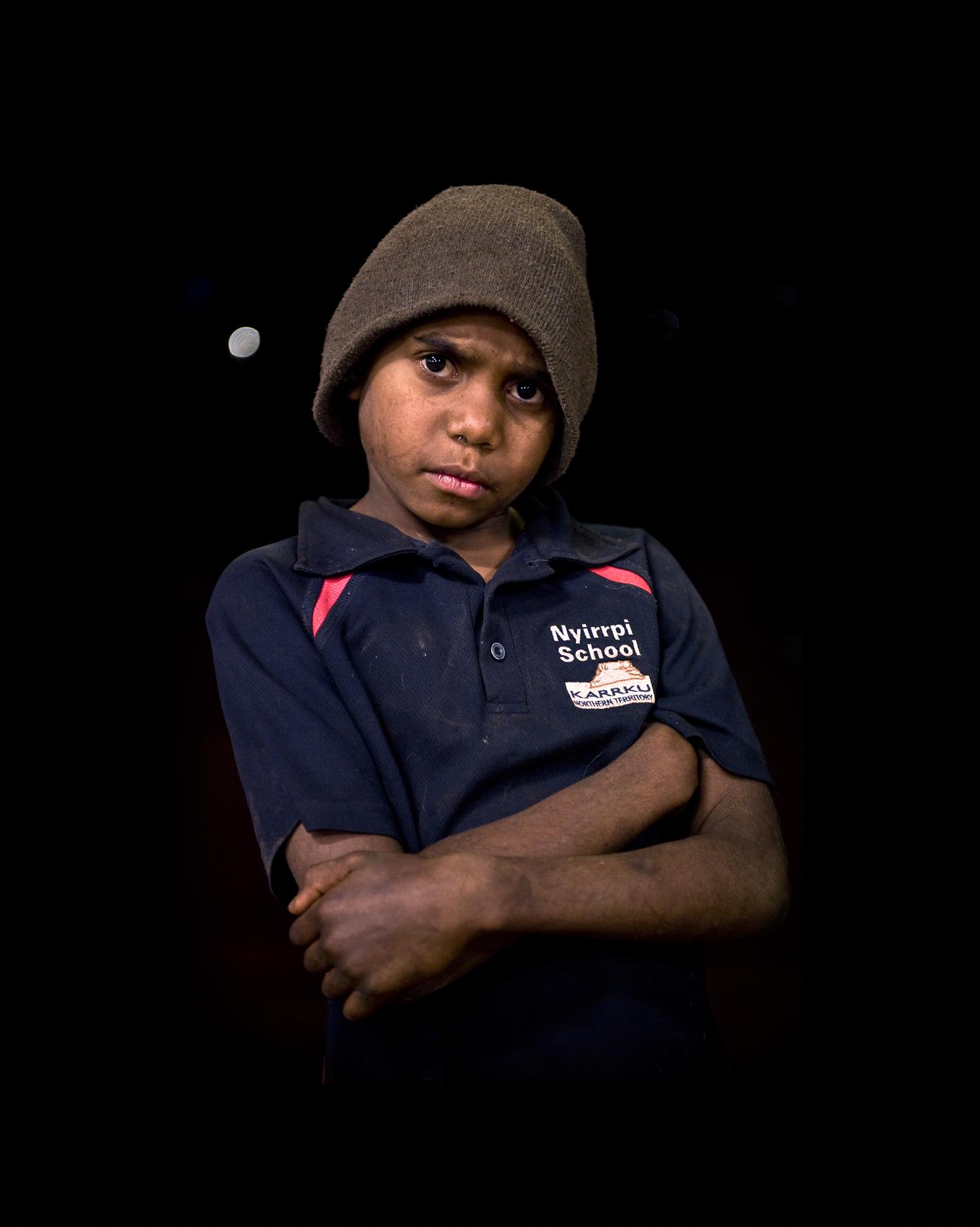 'Nyirripi Boy With Beanie'