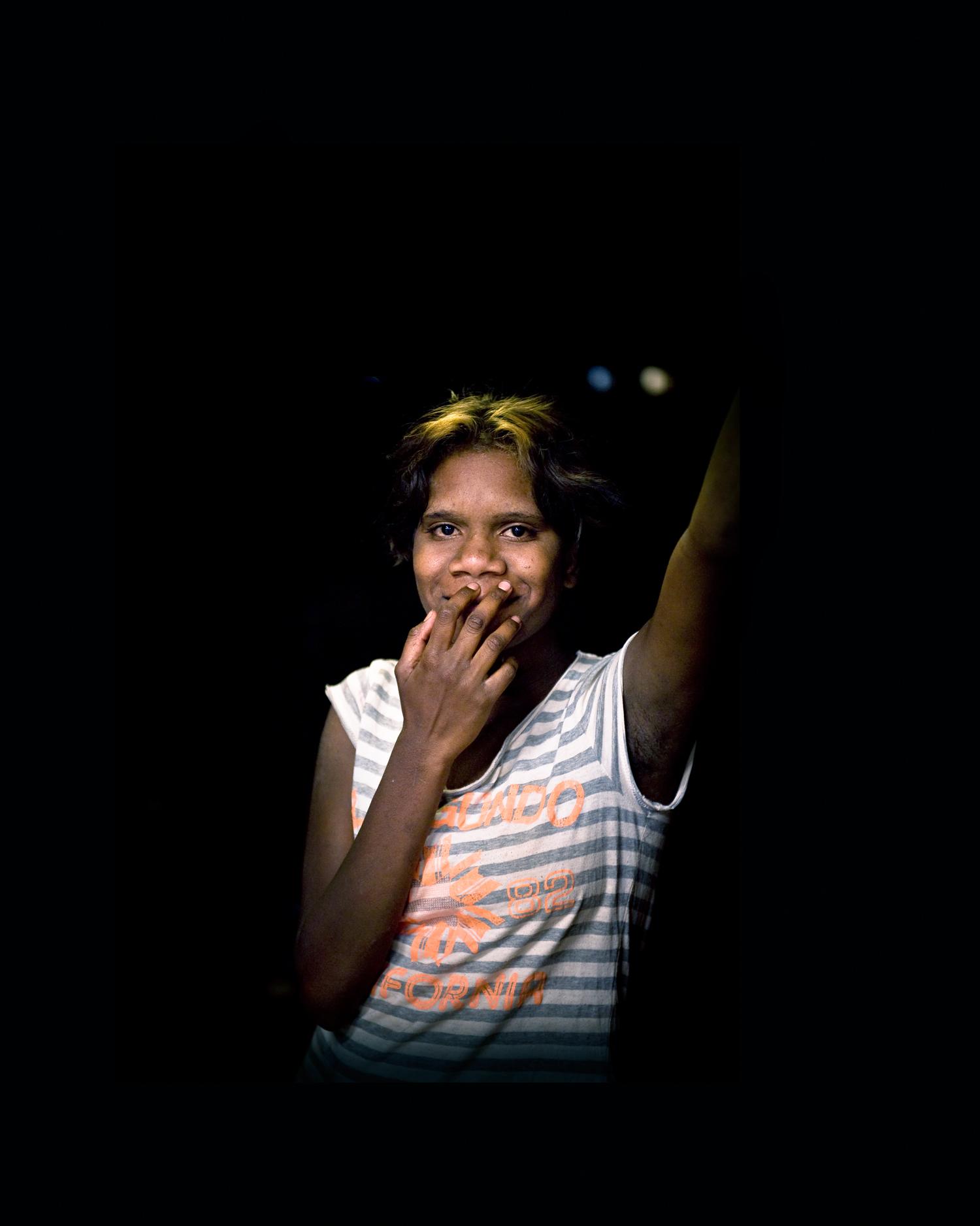 'Nyirripi Girl With Smile'