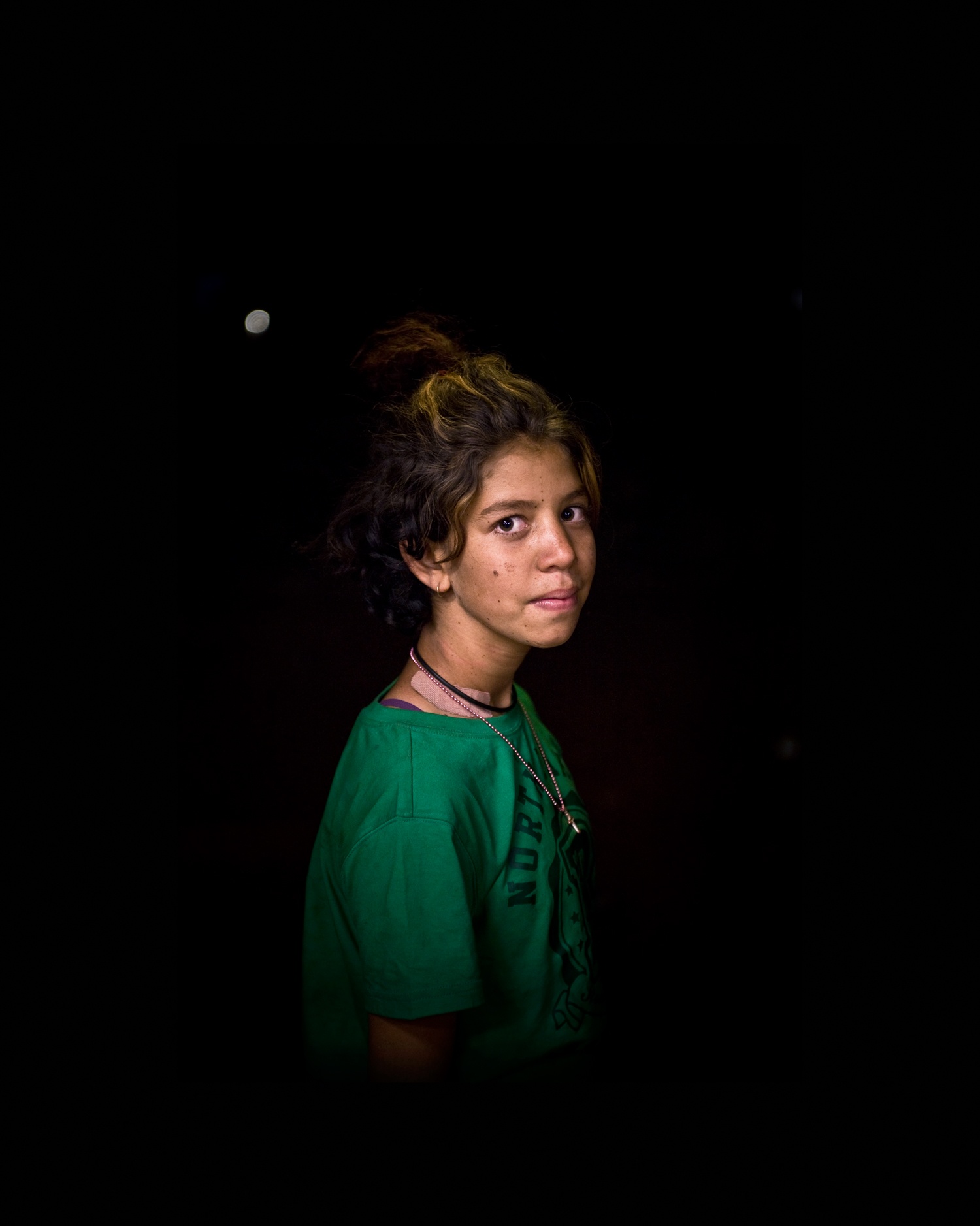 'Nyirripi Girl With Green T-shirt'