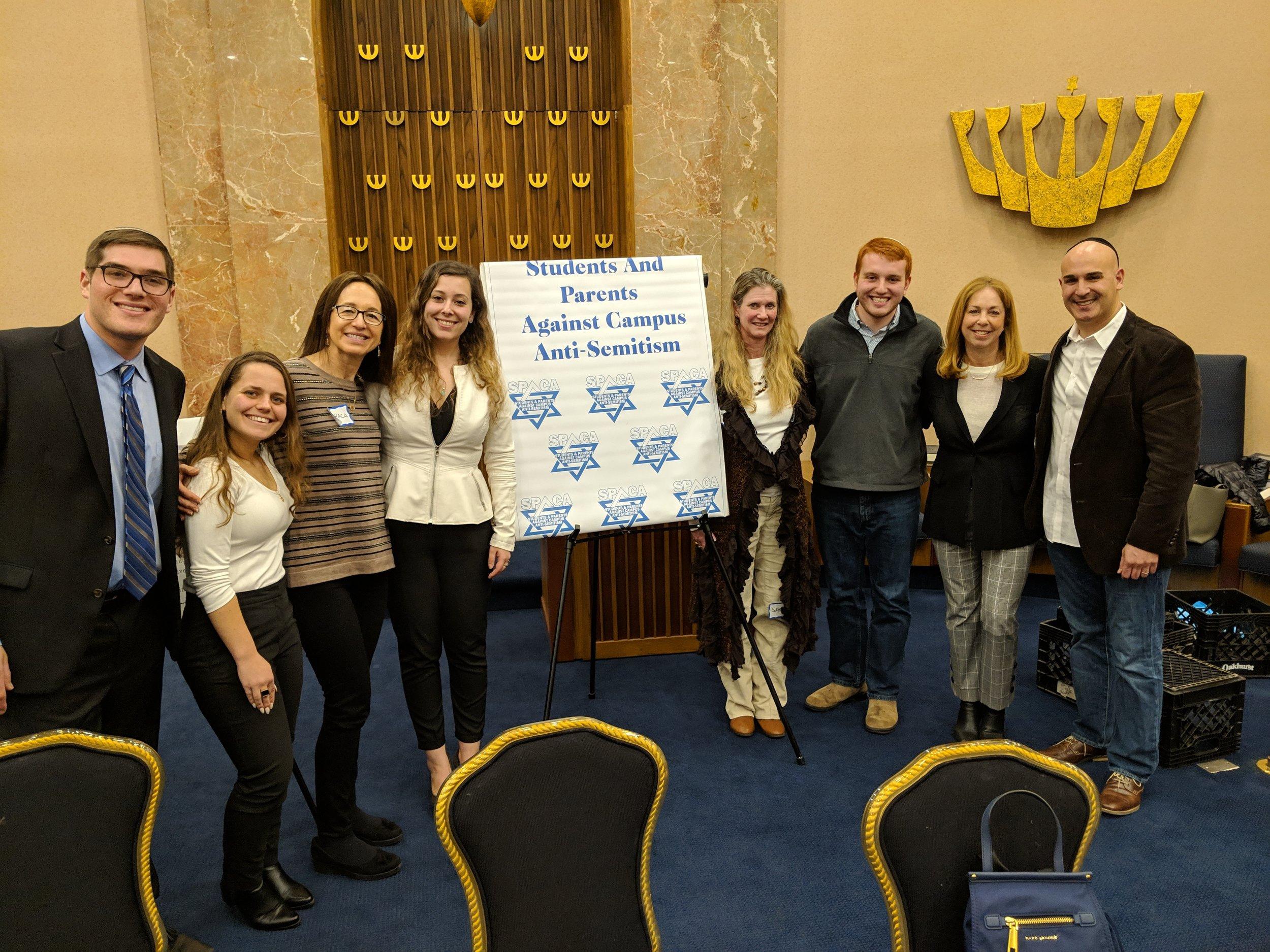 From left to right: Rabbi Jack Dermer, Ofir Dayan, Shoshana Bederman, Dalia Zahger, Tamar Ben-Simon, Joshua Yoni Nirenberg, Sharon Freudenstein, Ammer Benno