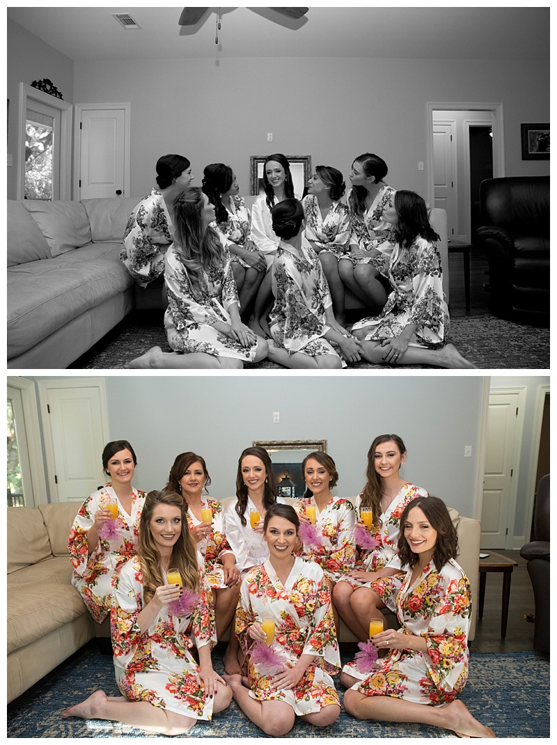 BRIDEMAIDS IN ROBES