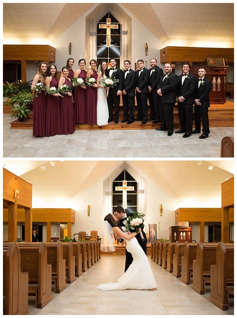 BRIDAL PARTY AT CHURCH