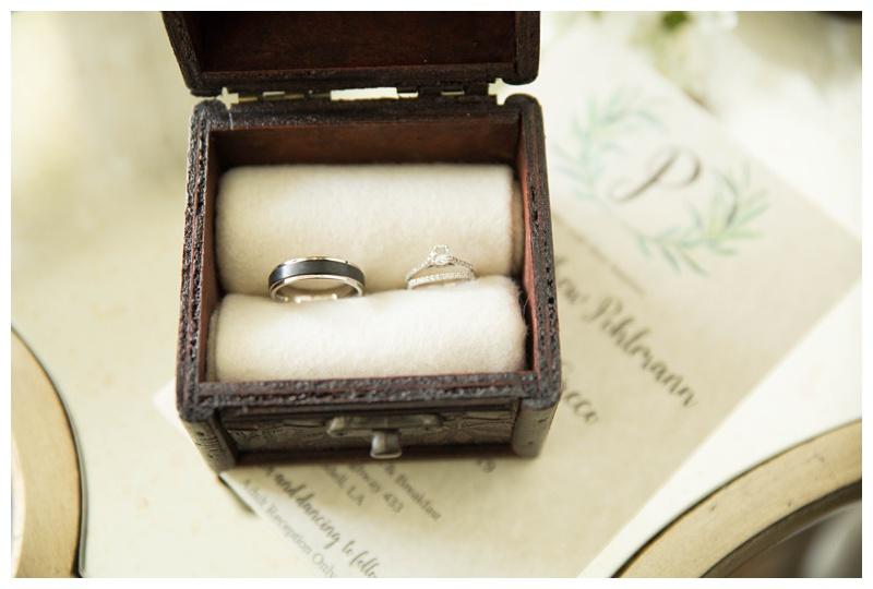 Ring Details Shot Mandeville LA Wedding Photographer