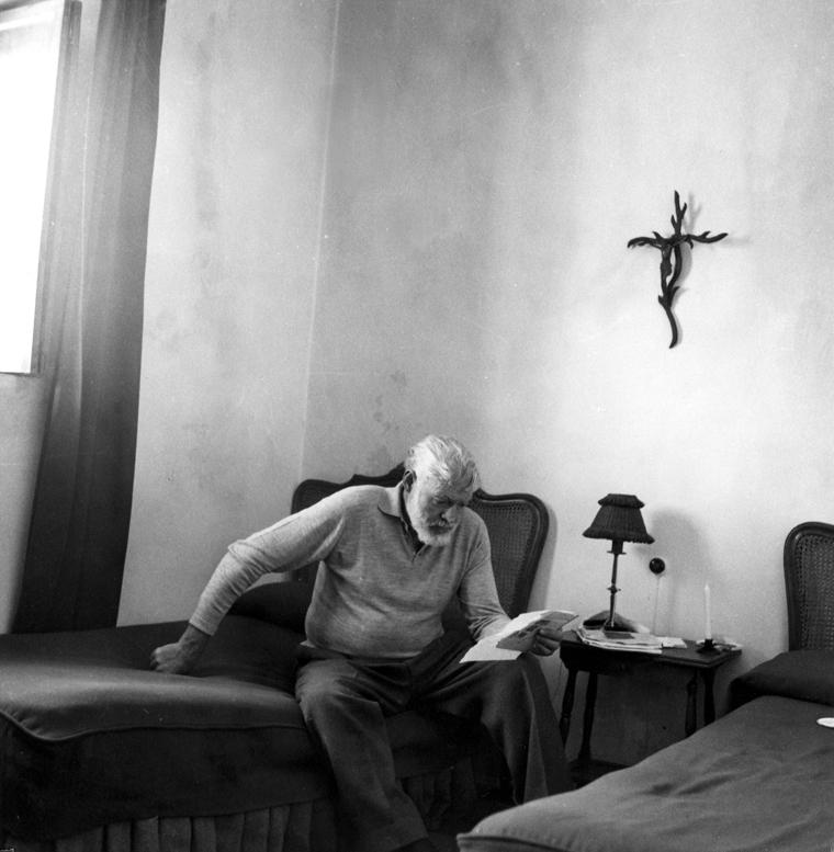 Ernest Hemingway in Spain.