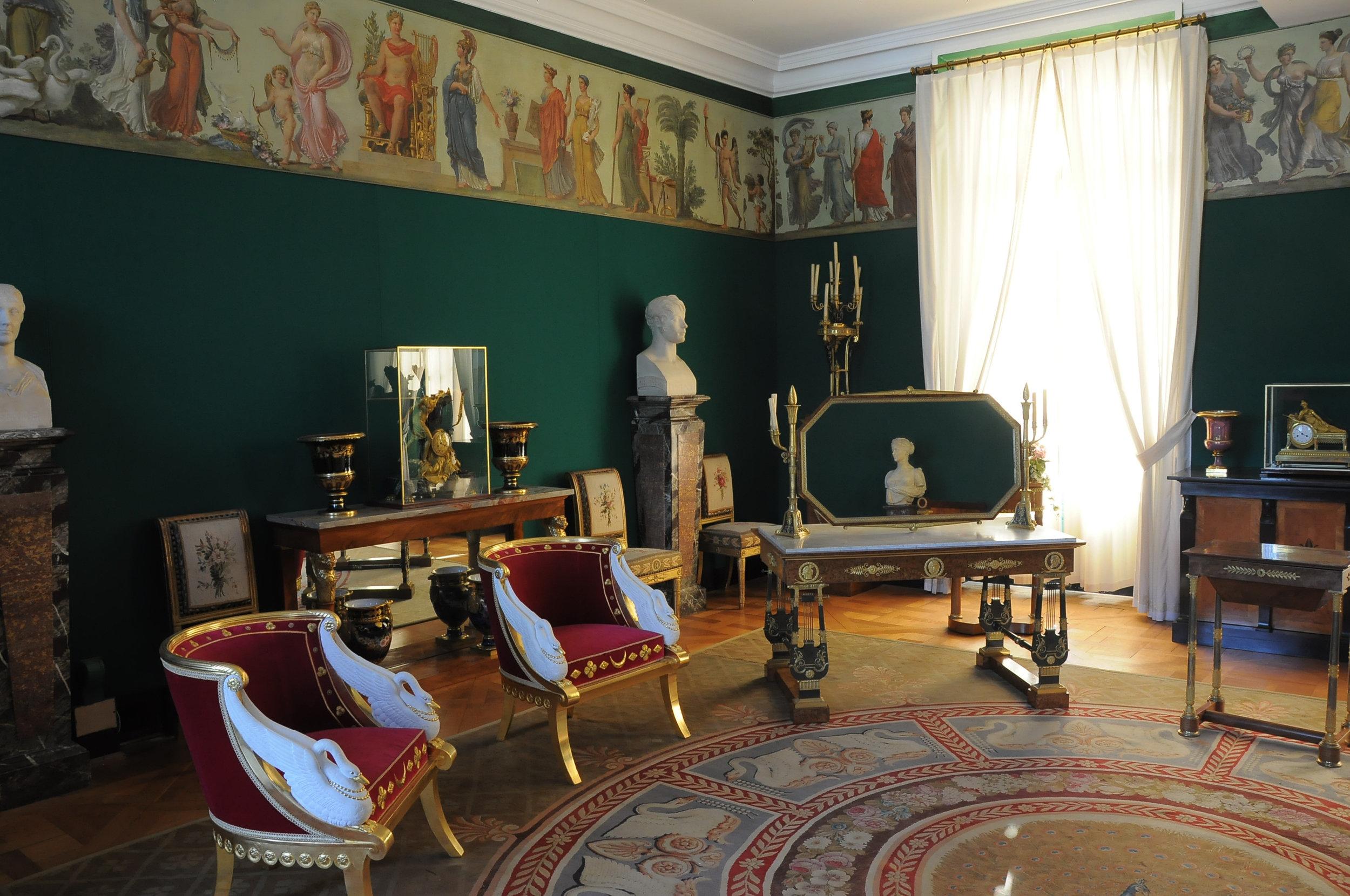 Chateau de Malmaison, Sitting Room of Empress Josephine Bonaparte in the Empire Style