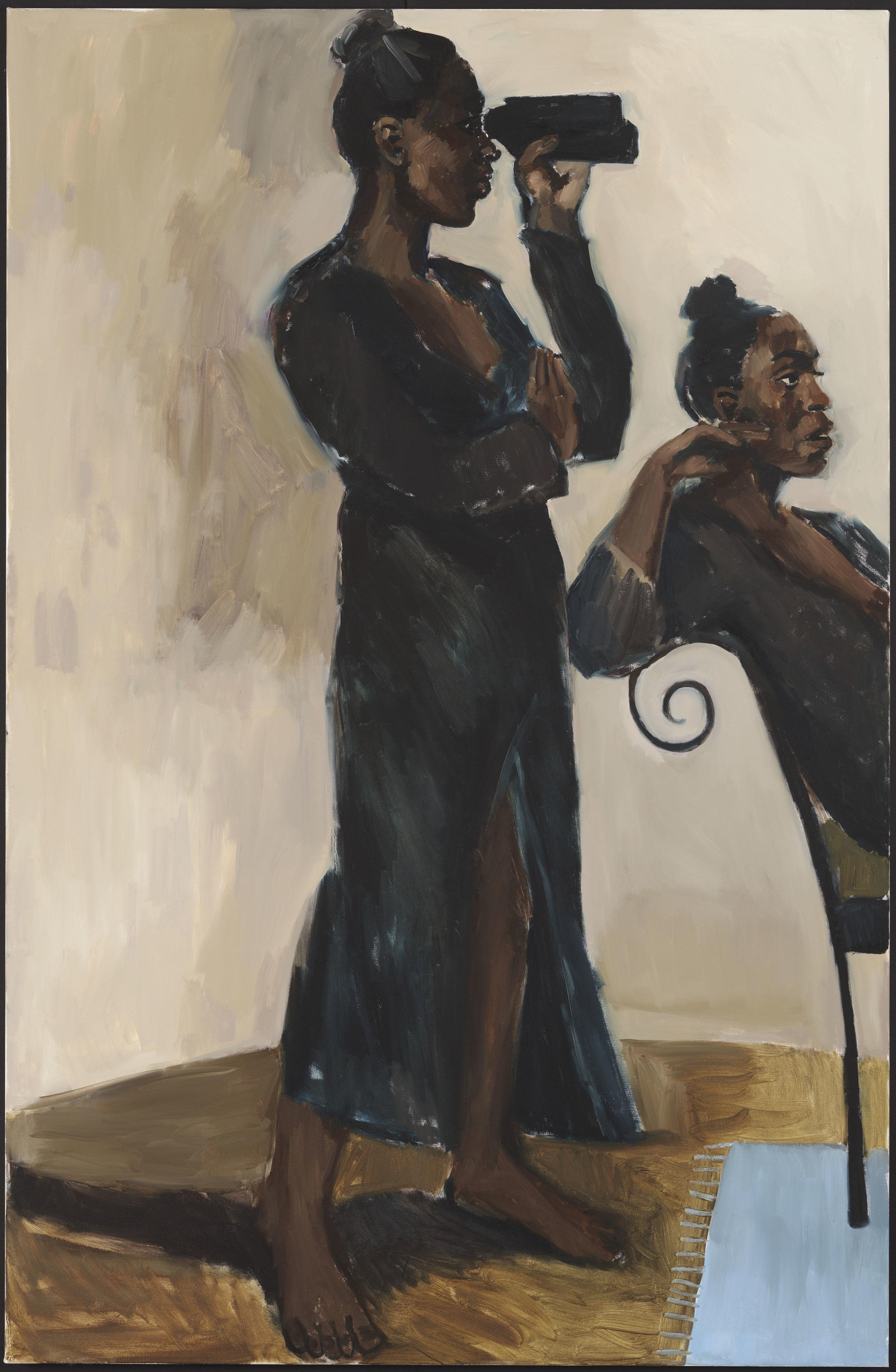 """""""The Women Watchful,"""" Lynette Yiadom-Boakyle, 2017"""