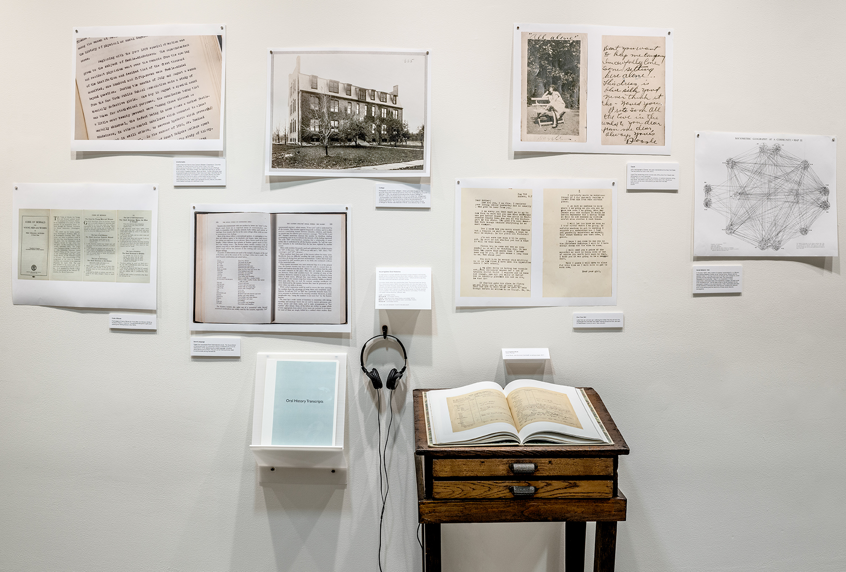 Incorrigible Stories,  Alison Cornyn. Book Installation and Oral Histories