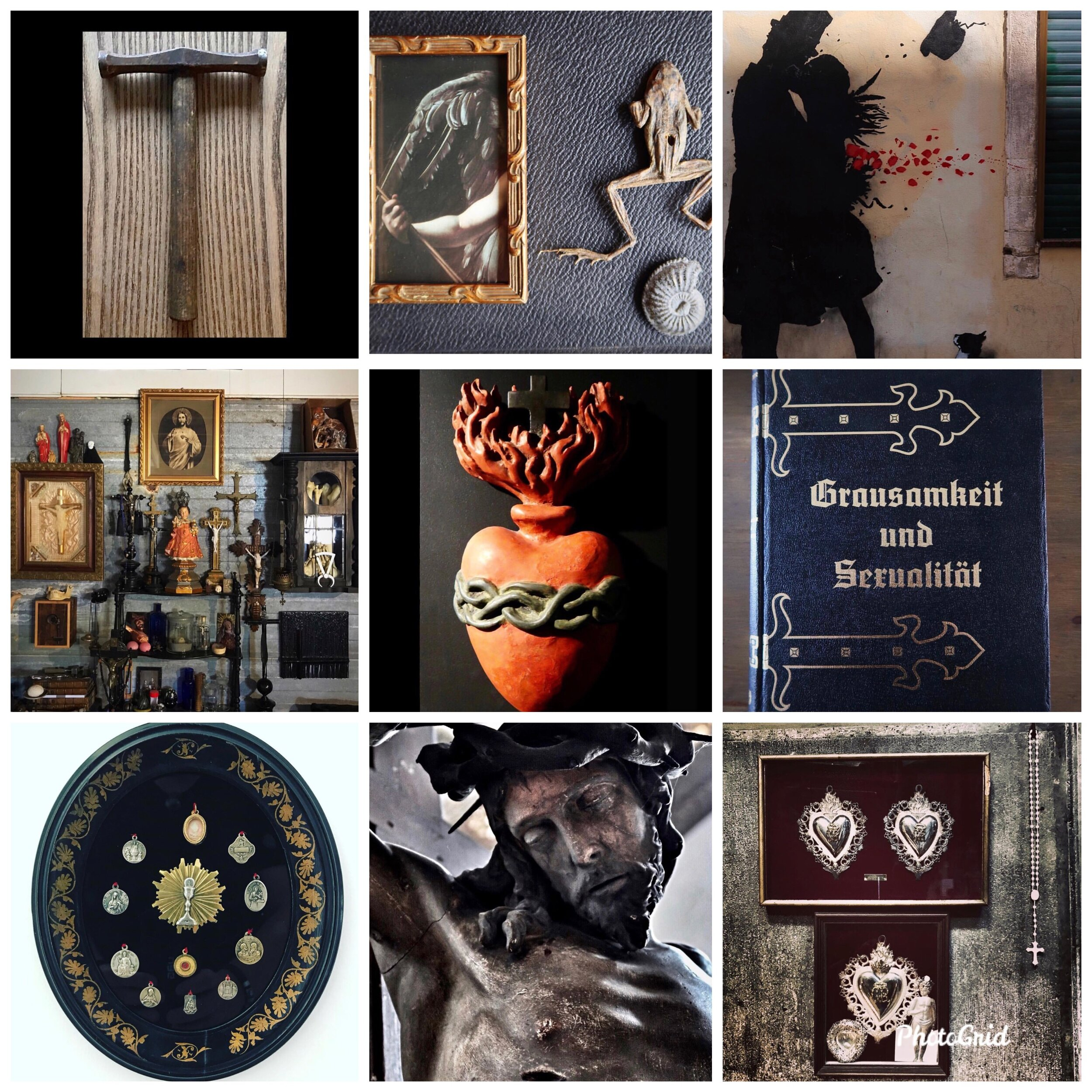 @FREIHERR65 IS A CLOSE COHORT OF MINE ON INSTAGRAM, SHARING RENDING RELIGIOUS IMAGERY AND OLD TOOLS OF AUSTERE BEAUTY.