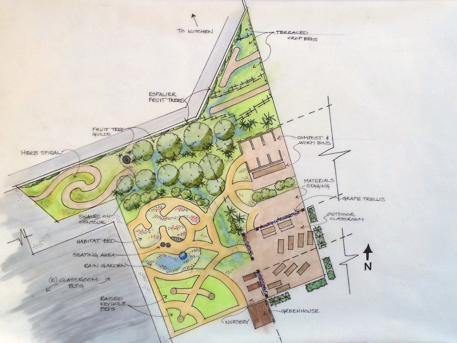 Foothill Elementary School, Conceptual Plan