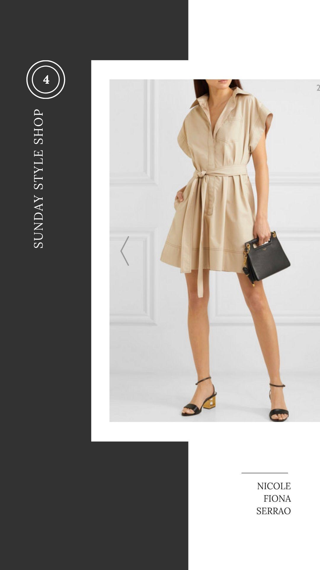 Nicole Fiona Serrao Sunday Style Shop Givenchy Khaki Dress