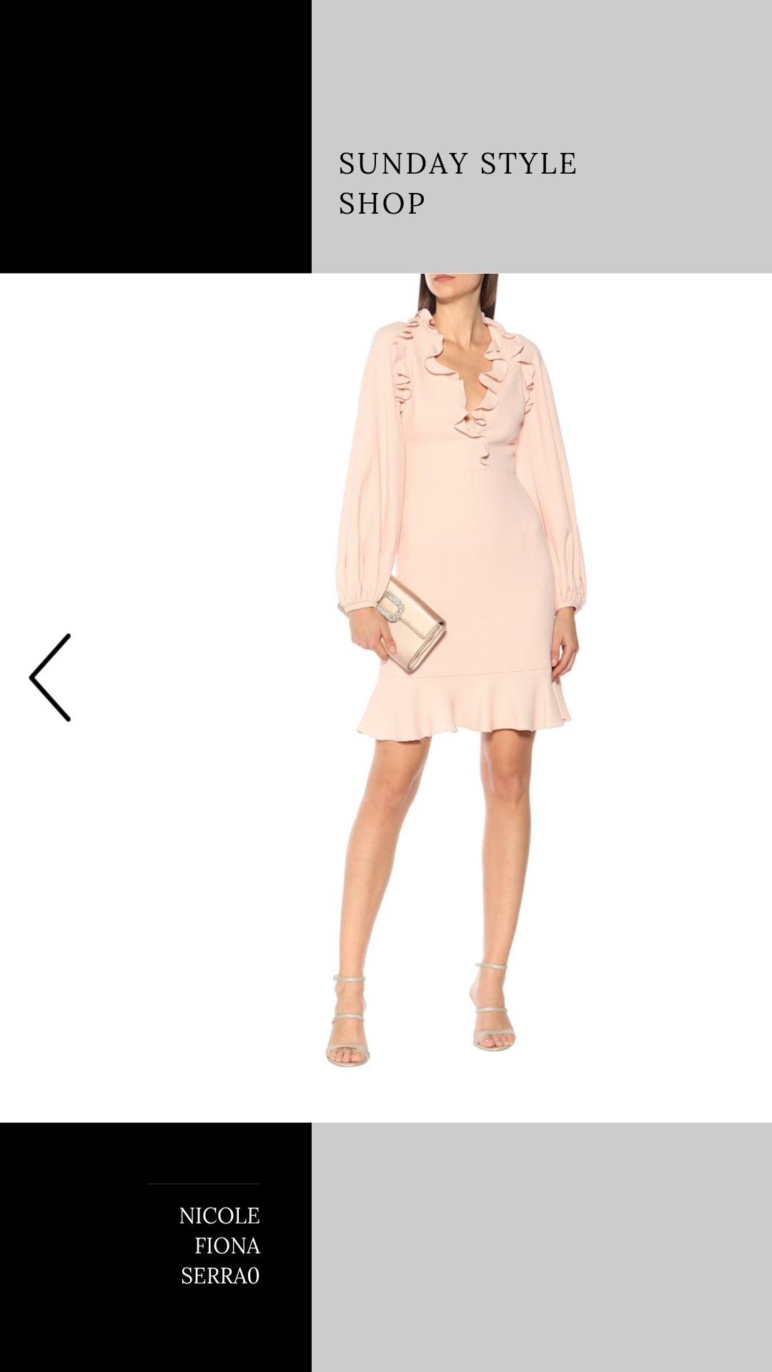 Nicole Fiona Serrao Sunday Style Shop Giambattista Valli Ruffled crepe mini dress