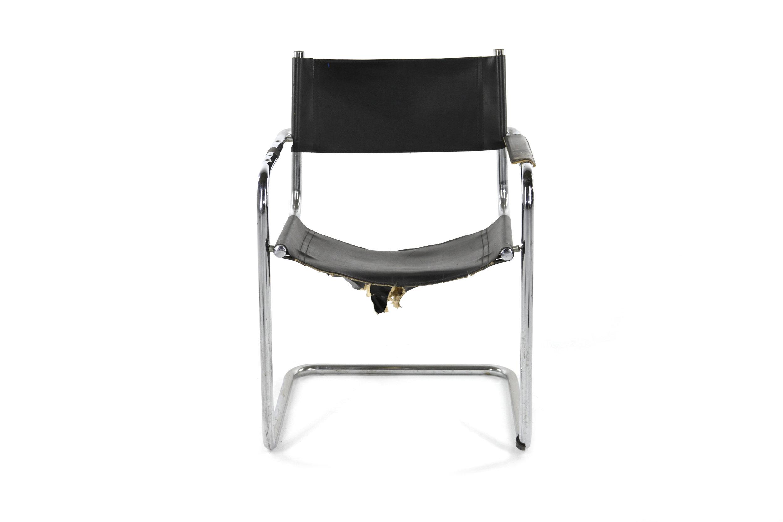 Black and Chrome Tenement Chair 1.jpg