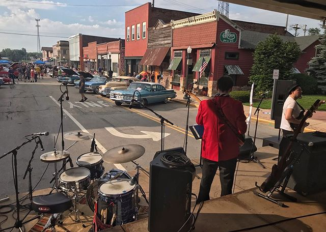 Thanks Wilmington Rotary Car Show, @thirdcitysound , Wilmington Collision Center & all others involved. The Real Gone had a great time. 👍🏼 Big thanks to @dataskeleton for filling in & doing great! #therealgone #surfrock #carshow #wilmingtonillinois
